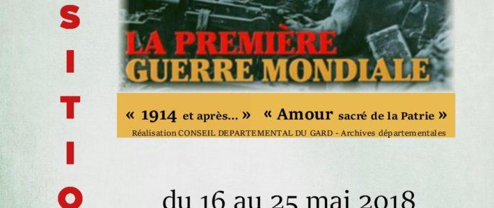 """Exposition """"La Première Guerre Mondiale"""" Salle Marcel Pagnol La Grand'Combe"""