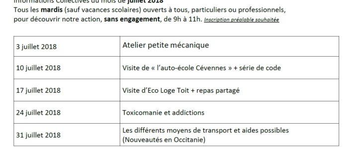 """PROGRAMME AIA """"En Route Vers l'Emploi"""" JUILLET 2018"""