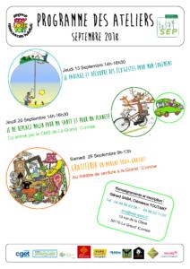 Programme Ateliers Eco Loge Toit Septembre 2018