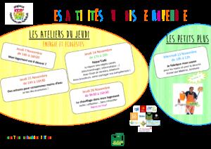 affiche activités ELT 2019 novembre