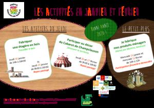 affiche activités ELT 2020 janv et fev