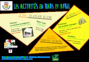 affiche activités ELT 2020 mars et avril