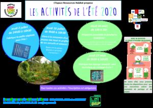 affiche activités ELT 2020 juillet aout