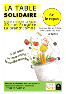 AFFICHE TABLE SOLIDAIRE septembre 2020