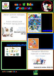 Programme activités d octobre Eco'Loge Toit